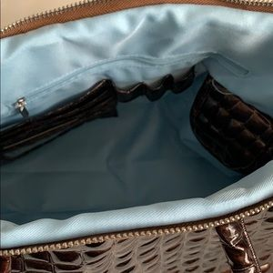 Coco + Carmen Bags - Shiny Brown Textured Handbag NWT